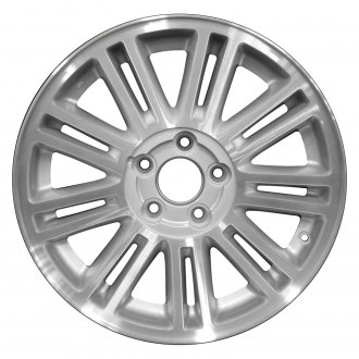 "Perfection Wheel® - 17"" Refinished 18 Spokes Sparkle Silver Machined Factory Alloy Wheel"
