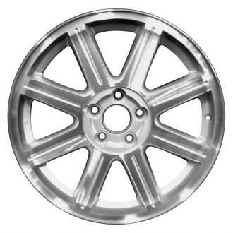 "Perfection Wheel® - 18"" Refinished 8 Spokes Sparkle Silver Machined Factory Alloy Wheel"