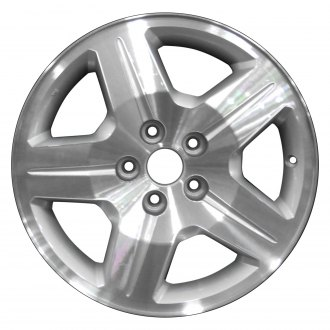 "Perfection Wheel® - 17"" Refinished 5 Spokes Bright Sparkle Silver Machined Factory Alloy Wheel"
