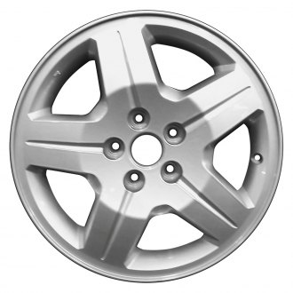 "Perfection Wheel® - 17"" Refinished 5 Spokes Fine Sparkle Silver Full Face Factory Alloy Wheel"