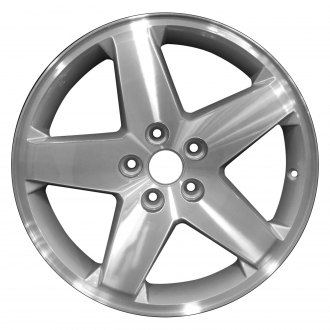 "Perfection Wheel® - 18"" Refinished 5 Spokes Medium Silver Machined Factory Alloy Wheel"