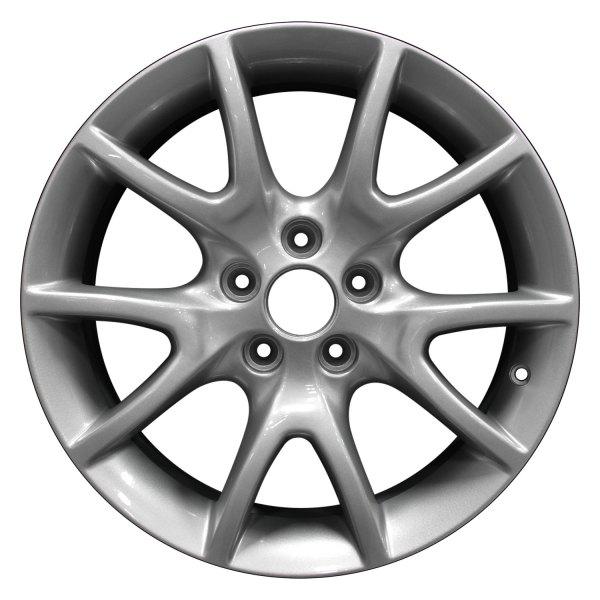 perfection wheel dodge dart 2013 2016 17 refinished 5 y spokes factory alloy wheel. Black Bedroom Furniture Sets. Home Design Ideas