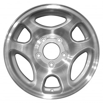 "Perfection Wheel® - 16"" Refinished 6 Slot Sparkle Silver Machined Factory Alloy Wheel"