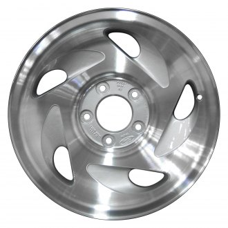 "Perfection Wheel® - 17"" Refinished 5 Slot Sparkle Silver Machined Factory Alloy Wheel"