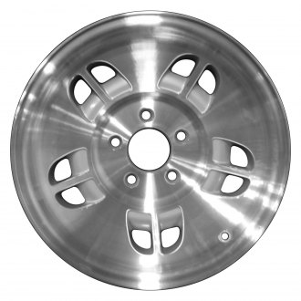 "Perfection Wheel® - 15"" Refinished 10 Hole Fine Metallic Silver Machined Factory Alloy Wheel"