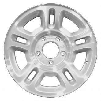 "Perfection Wheel® - 16"" Refinished 10 Slot Sparkle Silver Machined Factory Alloy Wheel"