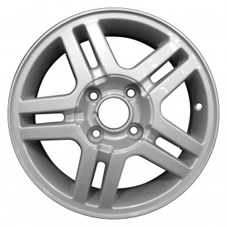 "Perfection Wheel® - 15"" Refinished 5 Double Spokes Sparkle Silver Full Face Factory Alloy Wheel"