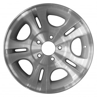 "Perfection Wheel® - 15"" Refinished 10 Slot Sparkle Silver Machined Factory Alloy Wheel"