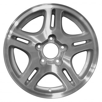 Perfection Wheel® - 17x7.5 5 Split-Spoke Sparkle Silver Machined Alloy Factory Wheel (Refinished)