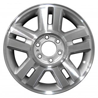 2007 ford f 150 replacement factory wheels rims carid 07 F150 Gears perfection wheel 18x7 5 5 double spoke bright fine tan metallic silver