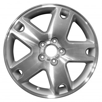 "Perfection Wheel® - 18"" Refinished 5 Spokes Bright Sparkle Silver Machined Factory Alloy Wheel"