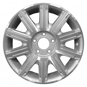 "Perfection Wheel® - 17"" Refinished 10 Spokes Sparkle Silver Machined Factory Alloy Wheel"