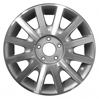 "Perfection Wheel® - 17"" Refinished 12 Spokes Medium Sparkle Silver Machined Factory Alloy Wheel"
