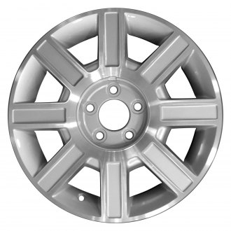 "Perfection Wheel® - 17"" Refinished 8 Spokes Medium Sparkle Silver Machined Factory Alloy Wheel"