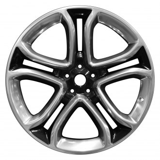 "Perfection Wheel® - 22"" Refinished 5 Split Spokes Tuxedo Black Polish Factory Alloy Wheel"