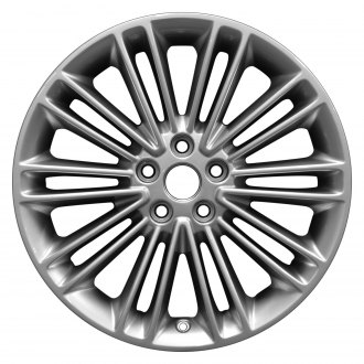 "Perfection Wheel® - 18"" Refinished 20 Spokes Hyper Medium Silver Full Face Factory Alloy Wheel"