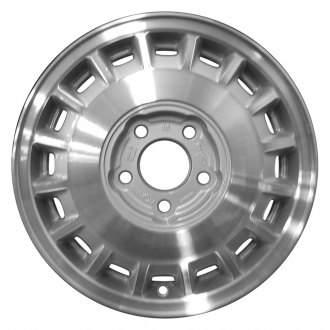 "Perfection Wheel® - 15"" Refinished 16 Slot Medium Sparkle Silver Machined Factory Alloy Wheel"