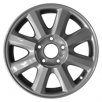 "Perfection Wheel® - 16"" Refinished 8 Spokes Sparkle Silver Full Face Factory Alloy Wheel"