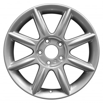 "Perfection Wheel® - 17"" Refinished 8 Spokes Bright Sparkle Silver Full Face Factory Alloy Wheel"