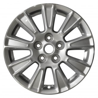 "Perfection Wheel® - 17"" Refinished 9 Spokes Sparkle Silver Machined Factory Alloy Wheel"