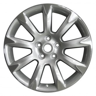 "Perfection Wheel® - 19"" Refinished 9 Spokes Bright Fine Metallic Silver Flange Cut Factory Alloy Wheel"