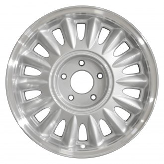 "Perfection Wheel® - 16"" Refinished 14 Slot Medium Sparkle Silver Flange Cut Factory Alloy Wheel"