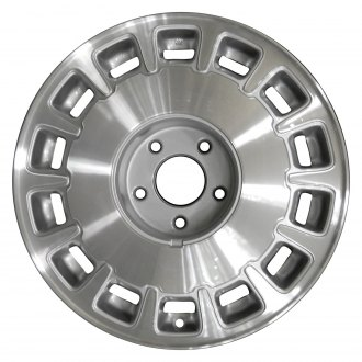 "Perfection Wheel® - 16"" Refinished 14 Slot Medium Sparkle Silver Machined Factory Alloy Wheel"
