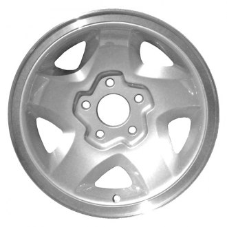 "Perfection Wheel® - 15"" Refinished 5 Slot Medium Sparkle Silver Flange Cut Factory Alloy Wheel"
