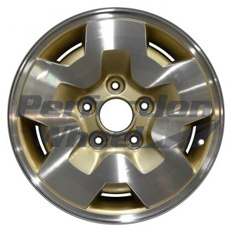 "Perfection Wheel® - 15"" Refinished 5 Slot Sparkle Gold Machined Factory Alloy Wheel"