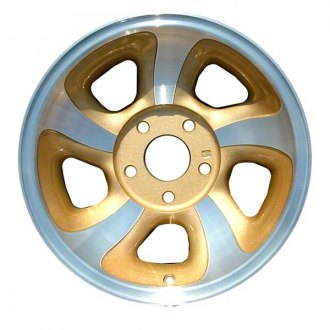 "Perfection Wheel® - 15"" Refinished 5 Slot Medium Sparkle Silver Machined Factory Alloy Wheel"