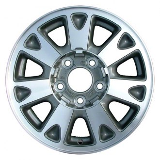 "Perfection Wheel® - 15"" Refinished 7 Spokes Medium Sparkle Silver Machined Factory Alloy Wheel"