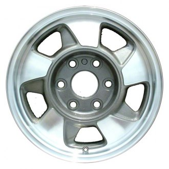 "Perfection Wheel® - 16"" Refinished 5 Slot Medium Metallic Charcoal Machined Factory Alloy Wheel"