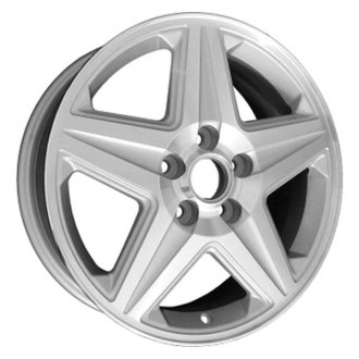 "Perfection Wheel® - 16"" Refinished 5 Spokes Bright Medium Silver Machine Texture Factory Alloy Wheel"