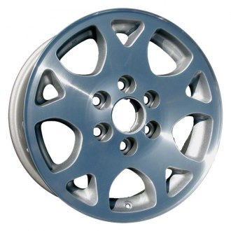 "Perfection Wheel® - 17"" Refinished 10 Slot Sparkle Silver Machined Factory Alloy Wheel"