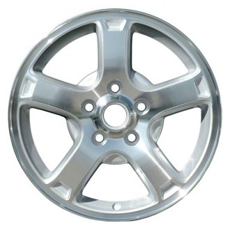 "Perfection Wheel® - 16"" Refinished 5 Spokes Sparkle Silver Machined Factory Alloy Wheel"