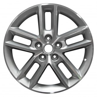 2008 chevy impala replacement factory wheels rims carid Impala 3.5 Engine perfection wheel 18x7 5 double spoke sparkle silver machined alloy factory wheel