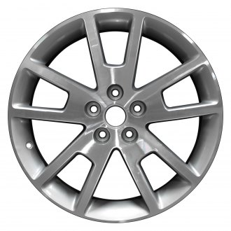 "Perfection Wheel® - 18"" Refinished 5 Split Spokes Bright Fine Metallic Silver Machined Factory Alloy Wheel"
