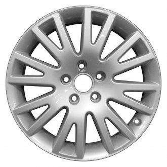 2009 audi a6 replacement factory wheels rims carid Audi A6 Eyelid perfection wheel 17x7 5 16 spoke bright fine metallic silver full face