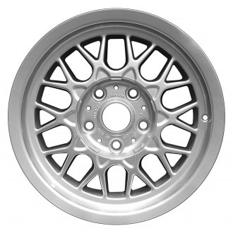 "Perfection Wheel® - 15"" Refinished Diamond Design Fine Bright Silver Full Face Factory Alloy Wheel"