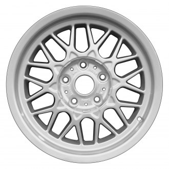 "Perfection Wheel® - 16"" Refinished Diamond Design Fine Bright Silver Full Face Factory Alloy Wheel"