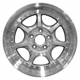 "Perfection Wheel® - 17"" Refinished 7 Spokes Bright Fine Silver Flange Cut Factory Alloy Wheel"