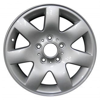 "Perfection Wheel® - 16"" Refinished 7 Spokes Bright Fine Silver Full Face Factory Alloy Wheel"