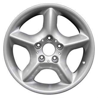 "Perfection Wheel® - 17"" Refinished 5 Spokes Bright Fine Metallic Silver Full Face Factory Alloy Wheel"