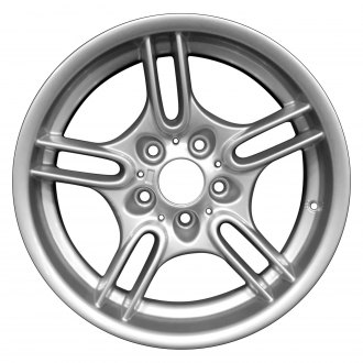 "Perfection Wheel® - 17"" Refinished 10 Spokes Bright Fine Metallic Silver Full Face Factory Alloy Wheel"