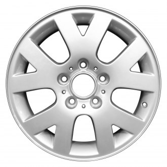 "Perfection Wheel® - 16"" Refinished 10 Slot Bright Fine Silver Full Face Factory Alloy Wheel"