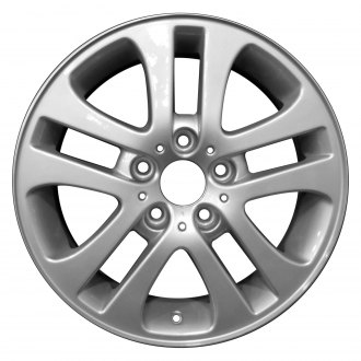 "Perfection Wheel® - 17"" Refinished 5 Split Spokes Bright Fine Metallic Silver Full Face Factory Alloy Wheel"