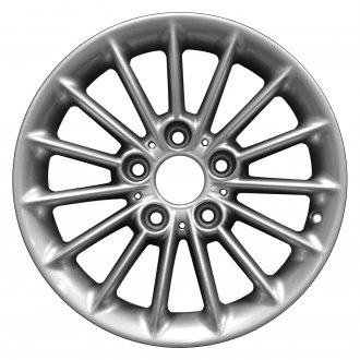 "Perfection Wheel® - 16"" Refinished 15 Spokes Bright Fine Metallic Silver Full Face Factory Alloy Wheel"