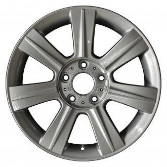 "Perfection Wheel® - 17"" Refinished 7 Spokes Bright Fine Metallic Silver Full Face Factory Alloy Wheel"