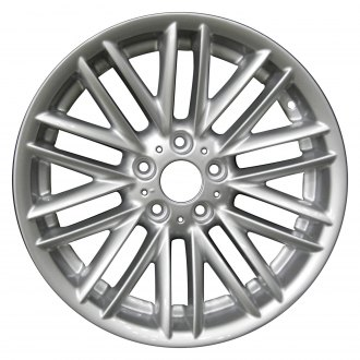 "Perfection Wheel® - 18"" Refinished 20 Spokes Bright Fine Silver Full Face Factory Alloy Wheel"