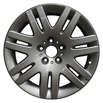 "Perfection Wheel® - 18"" Refinished 7 Split Spokes Bright Fine Metallic Silver Full Face Factory Alloy Wheel"
